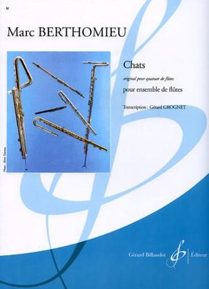 Chats - Ensemble de flûtes Marc Berthomieu Partition laflutedepan