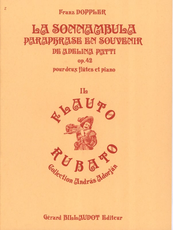 La Sonnambula op. 42 - Franz Doppler - Partition - laflutedepan.com