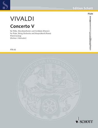Concerto F-Dur Op. 10 N° 5 - VIVALDI - Partition - laflutedepan.com