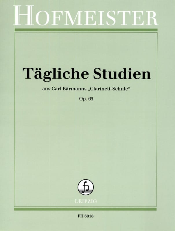 Tägliche Studien op. 63 - Carl Baermann - Partition - laflutedepan.com