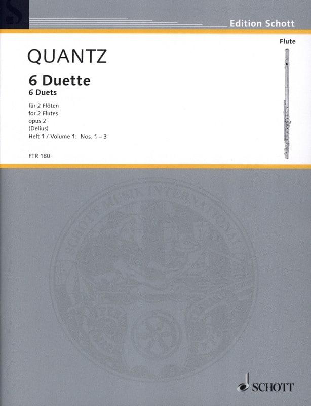 6 Duette op. 2 - Heft 1 Nr. 1-3 - 2 Flöten - QUANTZ - laflutedepan.com