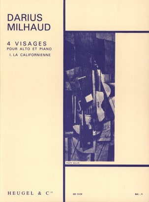 4 Visages - N° 1 la Californienne MILHAUD Partition laflutedepan