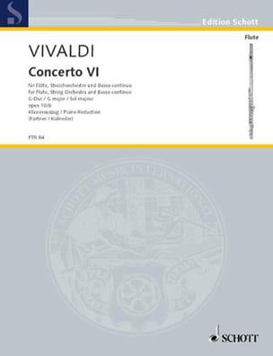 Concerto n° 6 G-Dur op. 10 N° 6 - Flöte Klavier VIVALDI laflutedepan