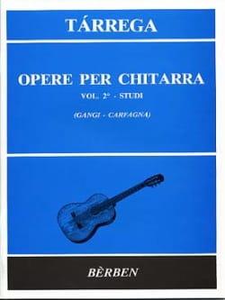 Opere Per Chitarra Volume 2 : Studi TARREGA Partition laflutedepan