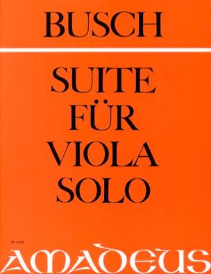 Suite für Viola solo op. 16 a Adolf Busch Partition laflutedepan