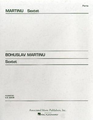 Sextet - Strings -Parts MARTINU Partition Sextuors - laflutedepan