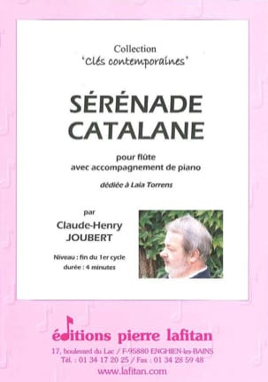 Sérénade Catalane Claude-Henry Joubert Partition laflutedepan