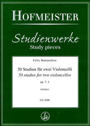 50 Etudes, op. 7 n° 1 - 2 Violoncelles Félix Battanchon laflutedepan