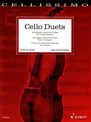 Cello Duets Partition Violoncelle - laflutedepan