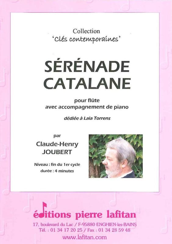Sérénade Catalane - Claude-Henry Joubert - laflutedepan.com