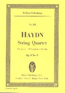 Streich-Quartett Es-Dur op. 9 n° 2 - HAYDN - laflutedepan.com
