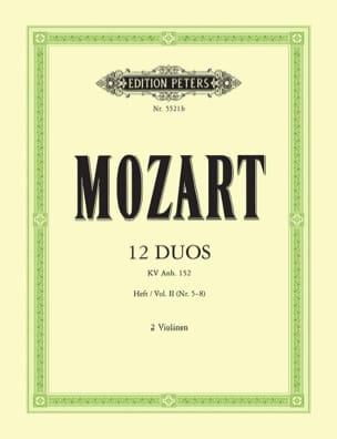 12 Duos KV Anh. 152, Volume 2 MOZART Partition Violon - laflutedepan