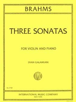 3 Sonatas for violin and piano BRAHMS Partition Violon - laflutedepan