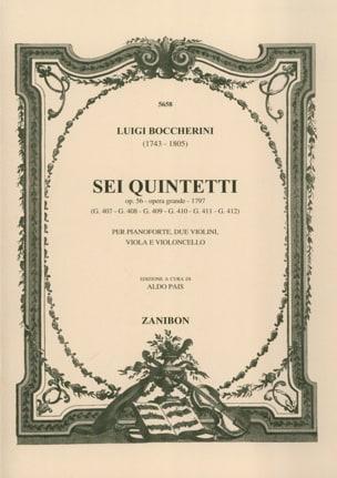 Sei Quintetti op. 56 G. 407-412 -Parties de cordes laflutedepan