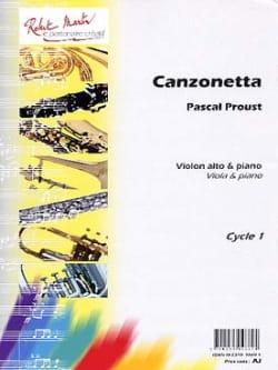 Canzonetta Pascal Proust Partition Alto - laflutedepan