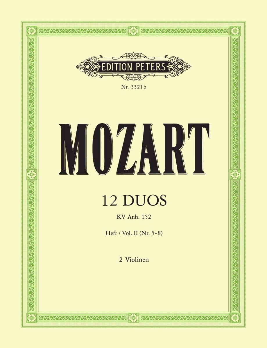 12 Duos KV Anh. 152, Volume 2 - MOZART - Partition - laflutedepan.com