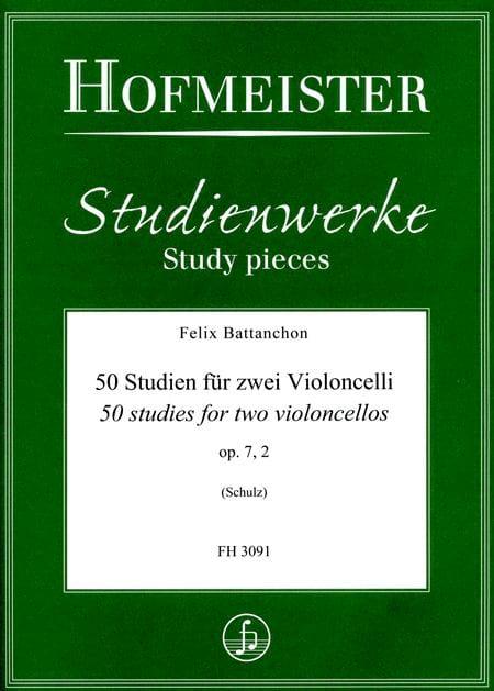 50 Etudes, op. 7 n° 2 - 2 Violoncelles - laflutedepan.com