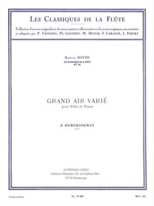 Grand air varié op. 3 Le trémolo Jules Demersseman laflutedepan
