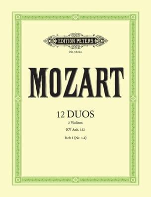 12 Duos Kv Anh. 152 Volume 1 MOZART Partition Violon - laflutedepan