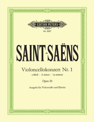 Concerto Violoncelle n° 1 op. 33 SAINT-SAËNS Partition laflutedepan