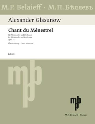 Chant du Ménestrel op. 71 Alexandre Glazounov Partition laflutedepan