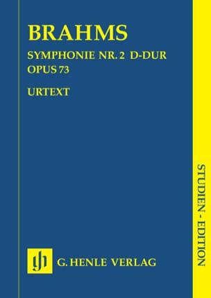Symphonie n° 2 en Ré majeur op. 73 BRAHMS Partition laflutedepan