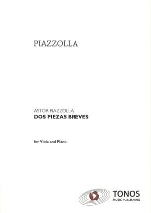 Dos Piezas Breves Astor Piazzolla Partition Alto - laflutedepan