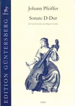 Sonate D-Dur für Viola da Gamba Johann Pfeiffer Partition laflutedepan