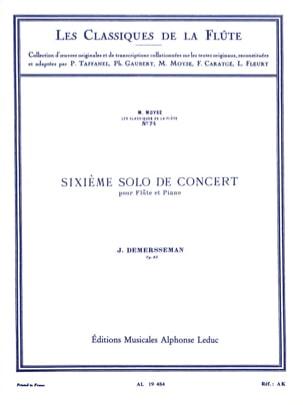 6ème Solo de concert op. 82 - Flûte et piano laflutedepan