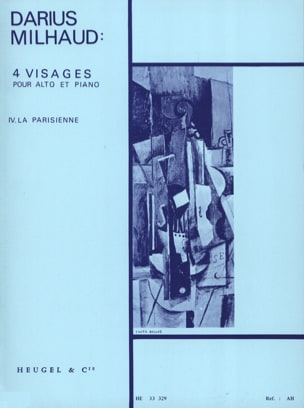 4 Visages - N° 4 La Parisienne MILHAUD Partition Alto - laflutedepan