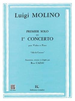 1er Solo du Concerto n° 1 Luigi Molino Partition Violon - laflutedepan