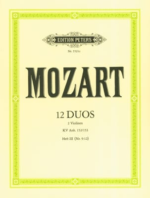 12 Duos KV Anh. 152 / 153, Volume 3 MOZART Partition laflutedepan