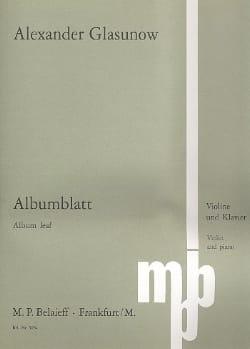 Albumblatt Alexandre Glazounov Partition Violon - laflutedepan