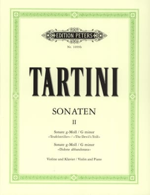 Sonates Volume 2 TARTINI Partition Violon - laflutedepan