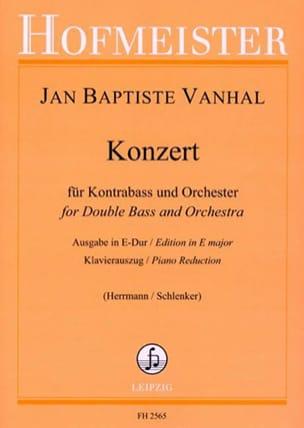 Konzert in E Dur - Kontrabass Johann Baptist Vanhal laflutedepan