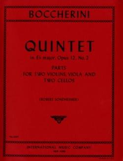 Quintet in Eb major op. 12 n° 2 -Parts BOCCHERINI laflutedepan