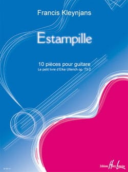 Estampille op. 73-3 Francis Kleynjans Partition Guitare - laflutedepan