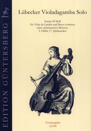 Sonate d-moll für Viola da Gamba Partition laflutedepan
