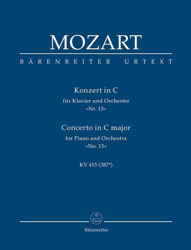 Klavierkonzert Nr. 13 C-Dur KV 415 - Partitur - laflutedepan.com