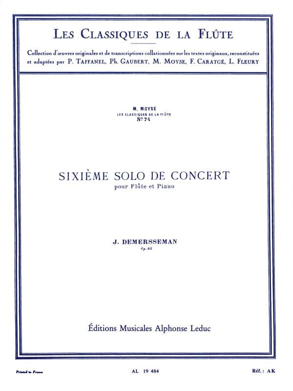 6ème Solo de concert op. 82 - Flûte et piano - laflutedepan.com