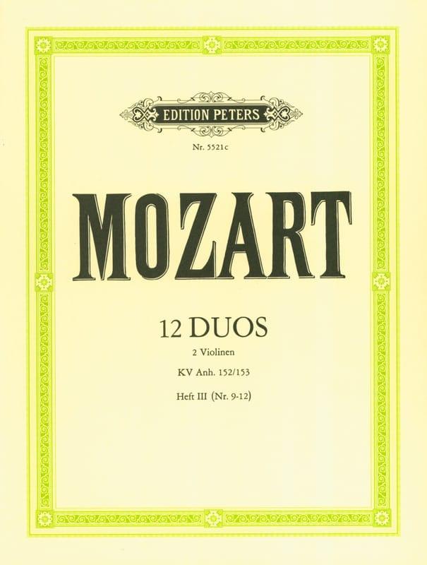 12 Duos KV Anh. 152 / 153, Volume 3 - MOZART - laflutedepan.com