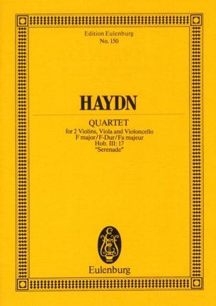 Streich-Quartett F-Dur op. 3 n° 5 Sérénade HAYDN laflutedepan