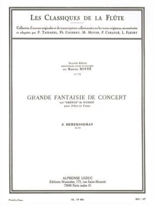 Grande fantaisie de concert op. 52 Jules Demersseman laflutedepan