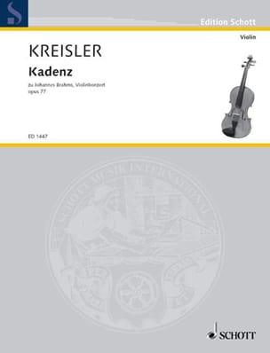 Kadenz zu Johannes Brahms Violinkonzert op. 77 KREISLER laflutedepan