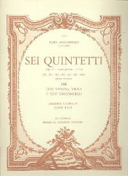 Sei Quintetti - G. 301-306 op. 27 -Parts BOCCHERINI laflutedepan