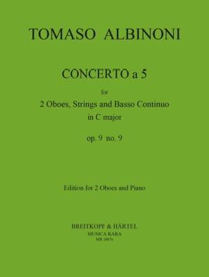 Concerto a 5 op. 9 n° 9 ALBINONI Partition Trios - laflutedepan