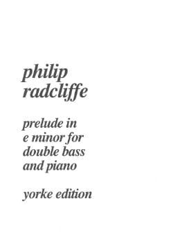 Prélude in e minor - Double bass piano Philip Radcliffe laflutedepan