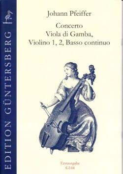 Concerto Viola di Gamba Johann Pfeiffer Partition laflutedepan