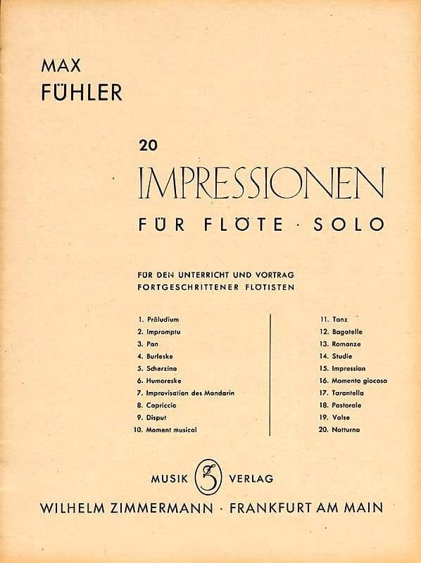 Suite - Flöte solo - Max Fühler - Partition - laflutedepan.com