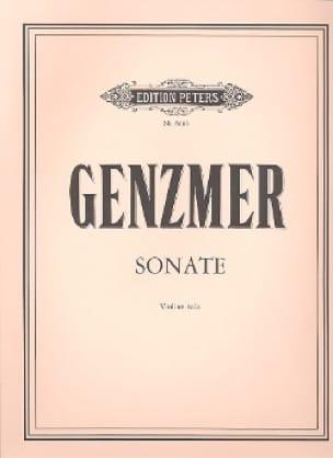 Sonate -Violine solo - Harald Genzmer - Partition - laflutedepan.com